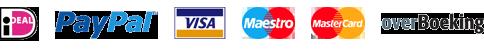 Betaling met IDeal, PayPal, Visa, Maestro, Mastercard, Overboeking