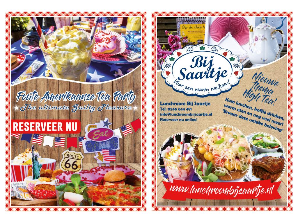 Flyer, Lunchroom Bij Saartje, Feestelijk