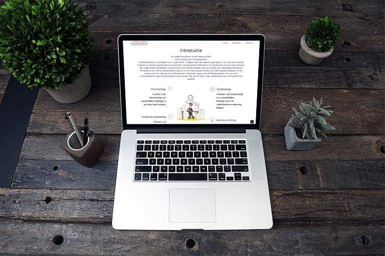 Webdesign met animatie, duidelijk webdesign, Formulierenman