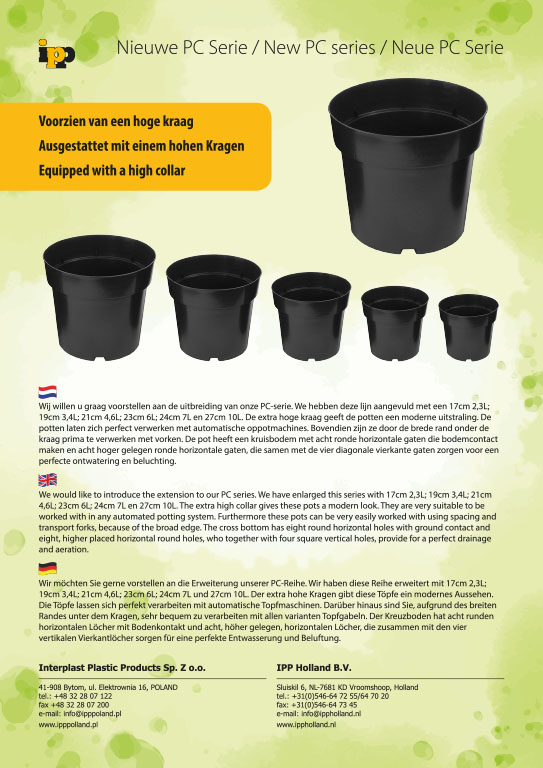 productinformatie, flyer, IPP Holland