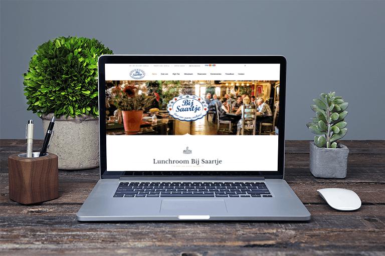 Responsive, Lunchroom Bij Saartje, Nieuwe website, Webdesign