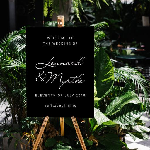 Stickers welkomstbord bruiloft